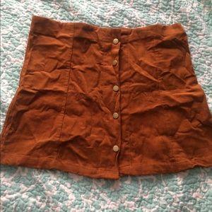 Skirts - Corduroy mini skirt